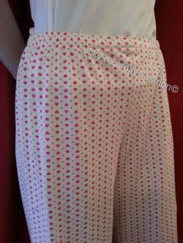 NEW M/&S cream pink heart comfy pyjama bottoms trousers Size 8 10 12 16 mix match