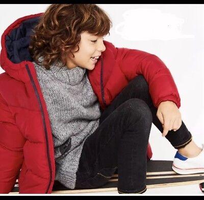 Dettagli su Zara Ragazzi Blu Navy Cappotto Parka Con Cappuccio Taglia 11 12 ANNI NUOVO mostra il titolo originale