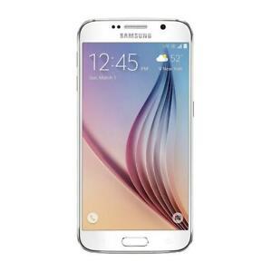 Samsung-Galaxy-S6-Sprint-32GB-White-16MP-SM-G920P-Clean-ESN-Good-Condition