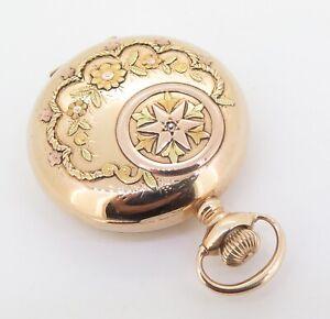 C-1899-Waltham-14K-Multicolour-Gold-11-Jewel-6s-Pocket-Watch
