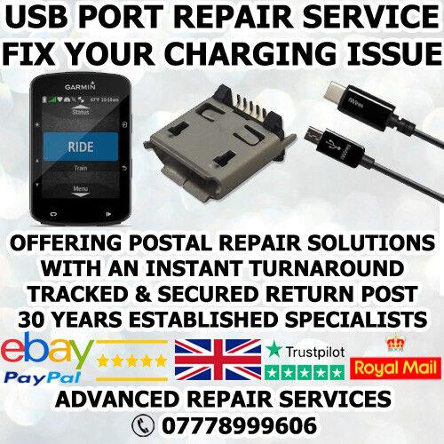 GARMIN EDGE 520 GPS MICRO USB CHARGING PORT SOCKET CONNECTOR REPAIR SERVICE