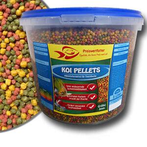 Teich-Granulate-3mm-3-Liter-Eimer-1080-g-Koi-Pellets-Futter-Koifutter-Teich