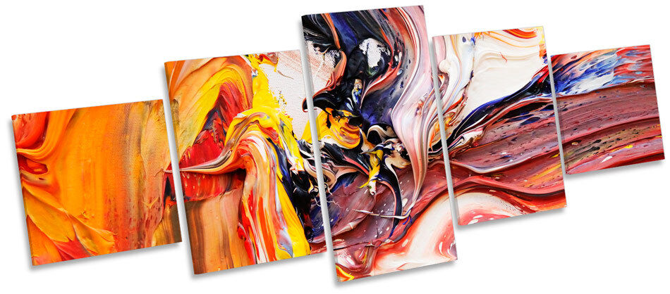 Artist Abstract Paint Pallet MULTI CANVAS WALL ART Print Box Frame