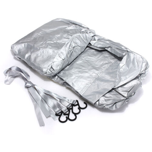 Waterproof Outdoor Car Top Cover Sun Rain Dust Snow Protection Silver M A3G4