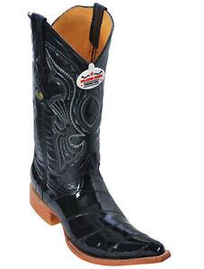 Men-039-s-Los-Altos-Genuine-Eel-Exotic-Western-Cowboy-Boots-Pointed-Toe-3x