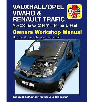 Haynes Workshop Manual Vauxhall Vivaro 2001 2014 Service /& Repair