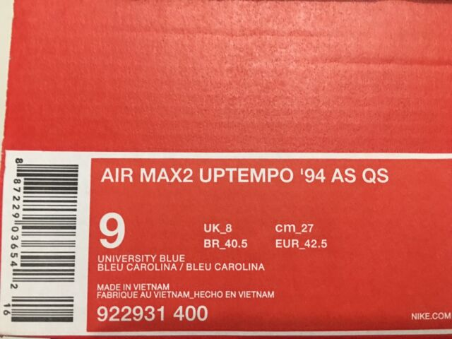 6bb57181da1 Nike Air Max 2 Uptempo 95 as QS Blue White Men Basketball Shoes ...