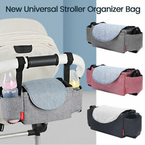 Baby-Stroller-Pram-Pushchair-Organizer-Mummy-Bag-Storage-Buggy-Bottle-Holder-OZ