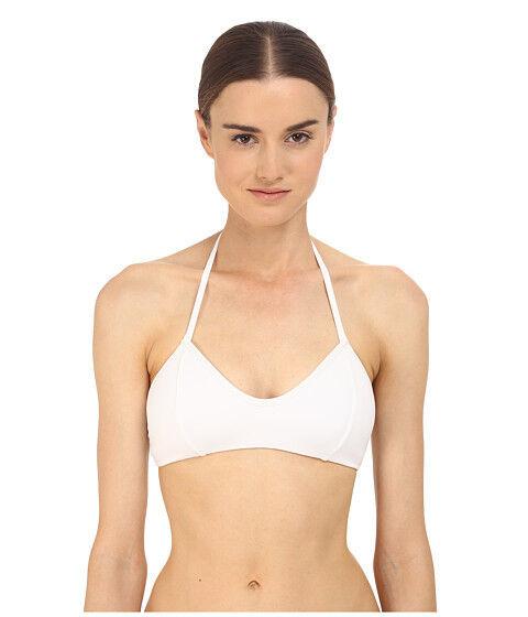 Onia Erin profundo escote en V para mujer Halter Halter Halter Atar Bikini Swim Top blancoo Talle mediano  nuevo   80 ee1518