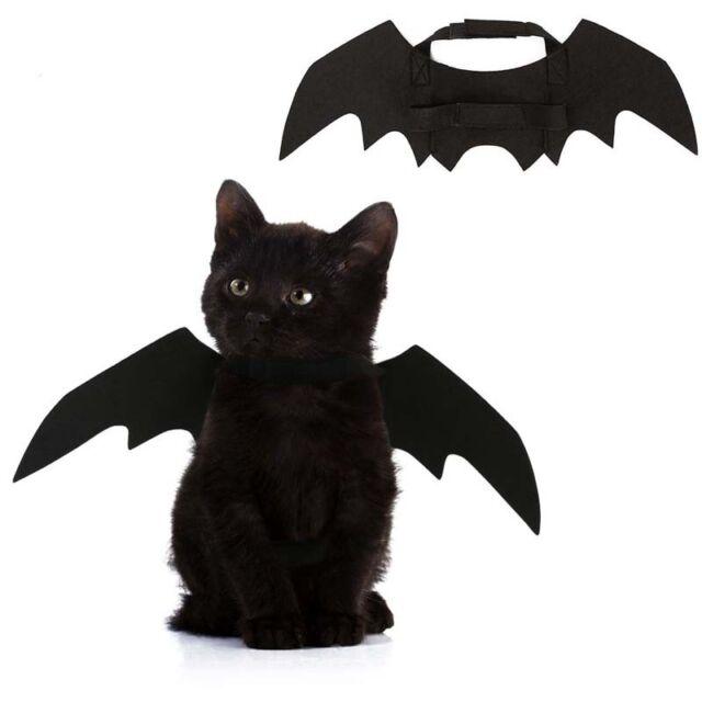 Small Pet Cat Dress Up Bat Wings Kitten Fancy Vampire Cape Costume