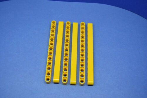 LEGO 6 x Technik Liftarm 1x13 gelb yellow technic 13M thick beam 41239 4522935