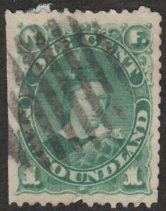 Scott-45-Canada-Newfoundland-Stamp-1-Cent-1897-Used-Canceled
