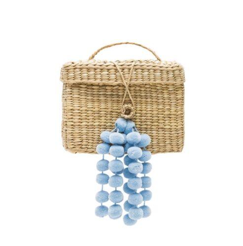 en Roge con apagado azul claro blanco correa de cuero Nwt Nannacay pequeño y Bolso 1gHqqU