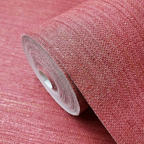 Burgundy Red Faux Grasscloth lines wallpaper Textured plain wallcoverings rolls