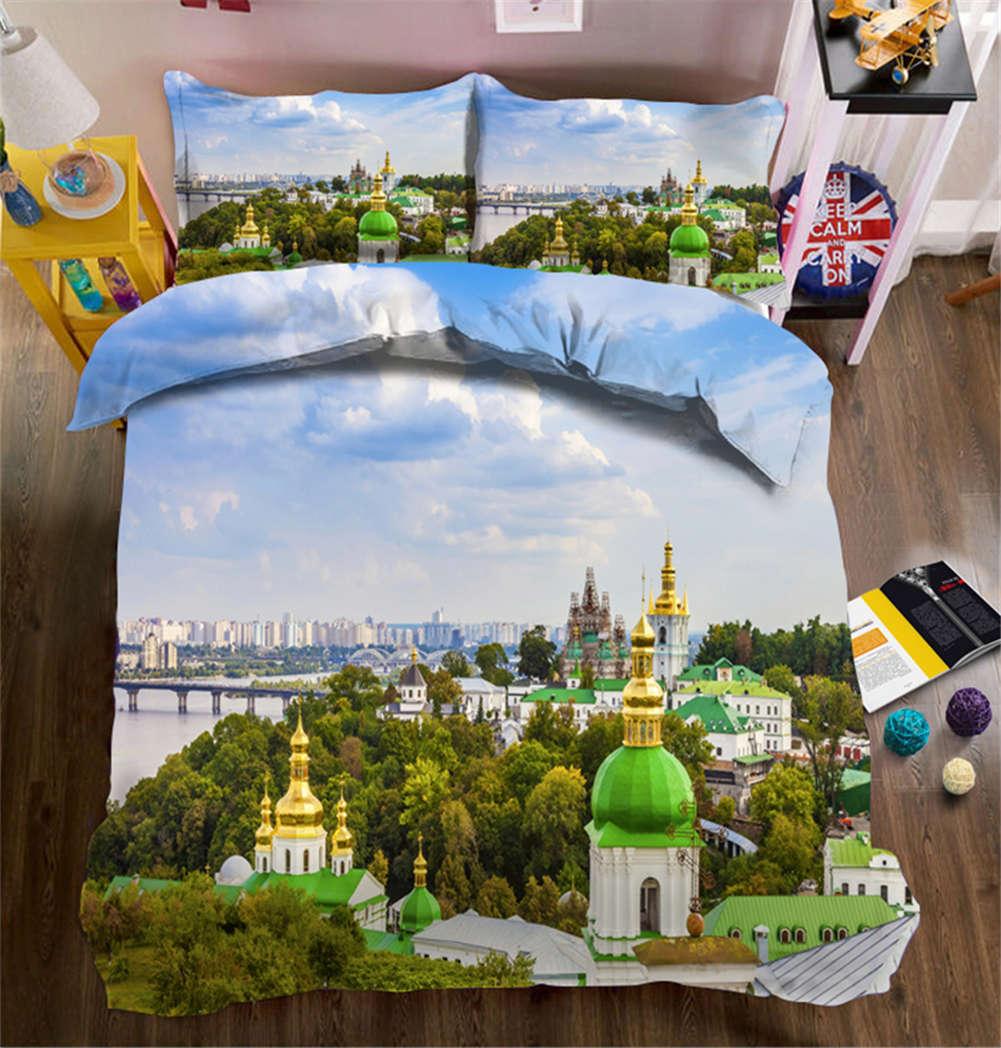 Unsearchable Castle 3D Printing Duvet Quilt Doona Covers Pillow Case Bedding Set