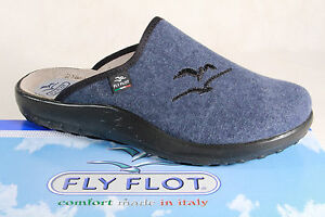 Fly Flot Men's Slipper textile fabric Brown/Beige Warm Lining NEW
