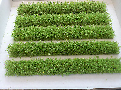 Perseverando Oo/ho Gauge Strips Of Light Green Garden Hedging For Model Railway/diorama