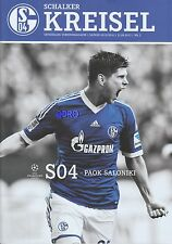 Schalker Kreisel + 21.08.2013 + FC Schalke 04 vs. PAOK Saloniki + Programm + NEU