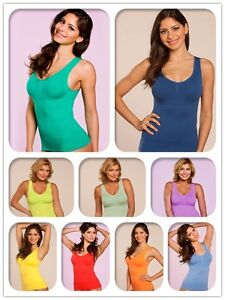 BNWT-Womens-3-in-1-Seamless-Shaping-Camisole-Shapewear-with-built-in-Genie-Bra