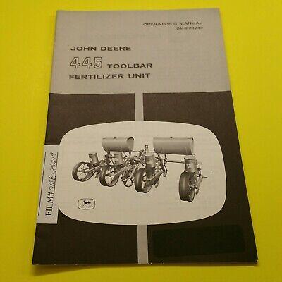 Heavy Equipment Manuals & Books OPERATOR PARTS MANUAL FOR JOHN ...