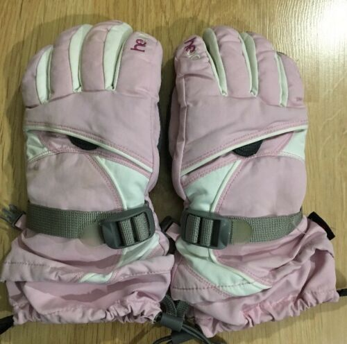 HEAD Gloves Youth Large Pink And White