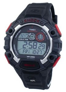 Timex-Expedition-Global-Shock-World-Time-Indiglo-Digital-T49973-Men-039-s-Watch