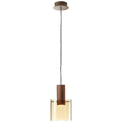LED Pendel Hänge Decken Leuchte Lampe Licht Beleuchtung BETH kupfer matt amber