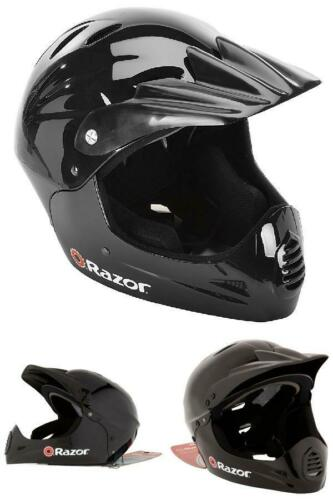 Glossy Black Razor Full Face Multi-Sport Youth Helmet