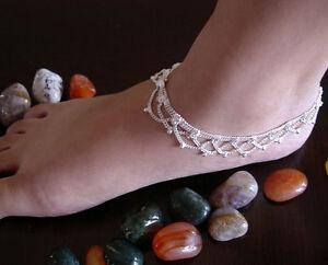 Paire De Bracelets De Cheville Bracelet De Cheville Chaîne Fashion Jewelry Boho Mariage Nu Pied Sandales-afficher Le Titre D'origine Prix De Rue