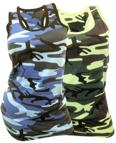 Träger-Shirt Tarnfarben 36-44 ARMY-LOOK Damen Tank-Tops Camouflage 2 TOPS