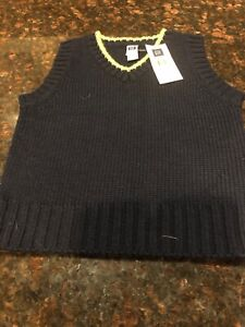 Details about NWT Baby Gap Boy Navy Sweater Vest Size 12 18M Reg $17 Free Ship