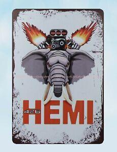 MOPAR Hemi Powered Engine Car Tin Sign Metal Poster