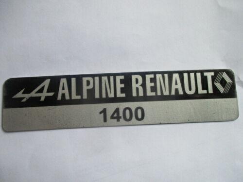 Panneau Type Renault Alpine Plaque Schild A110 A 110 1400 S53 s54