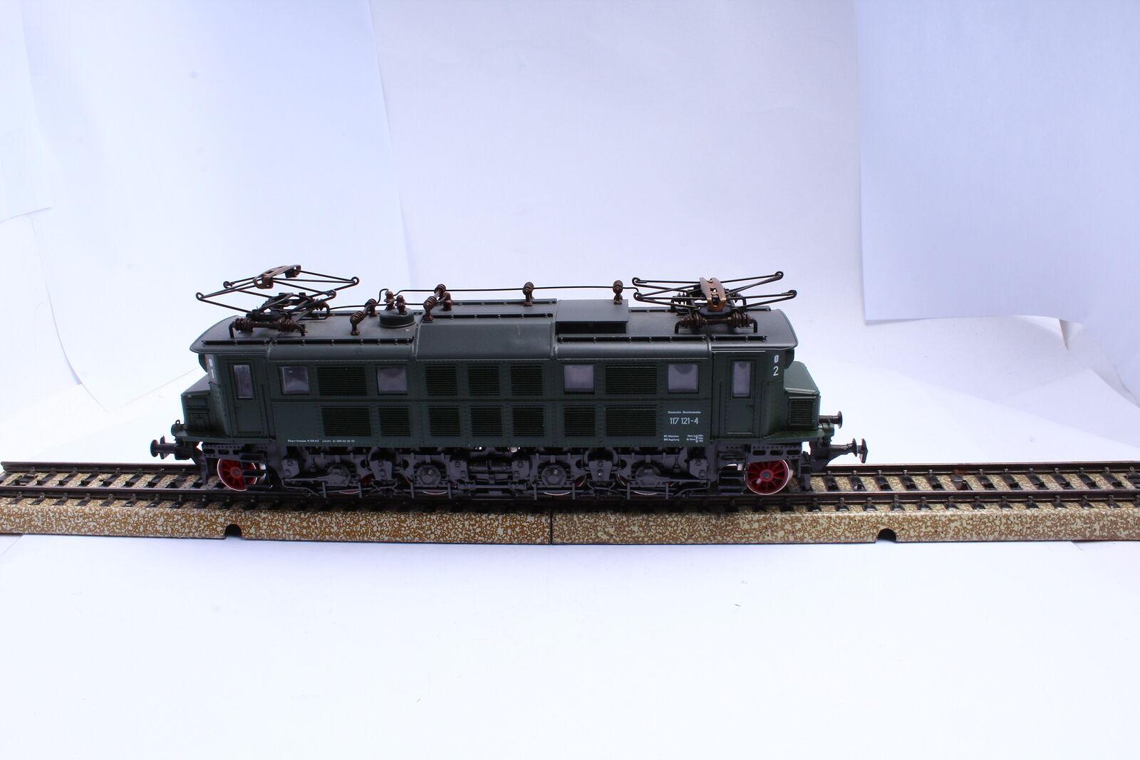 Rivarossi 1668 E -Lok BR 117 121 - 4 DB Gr gr rough 65533;65533; n getestet Spur H0