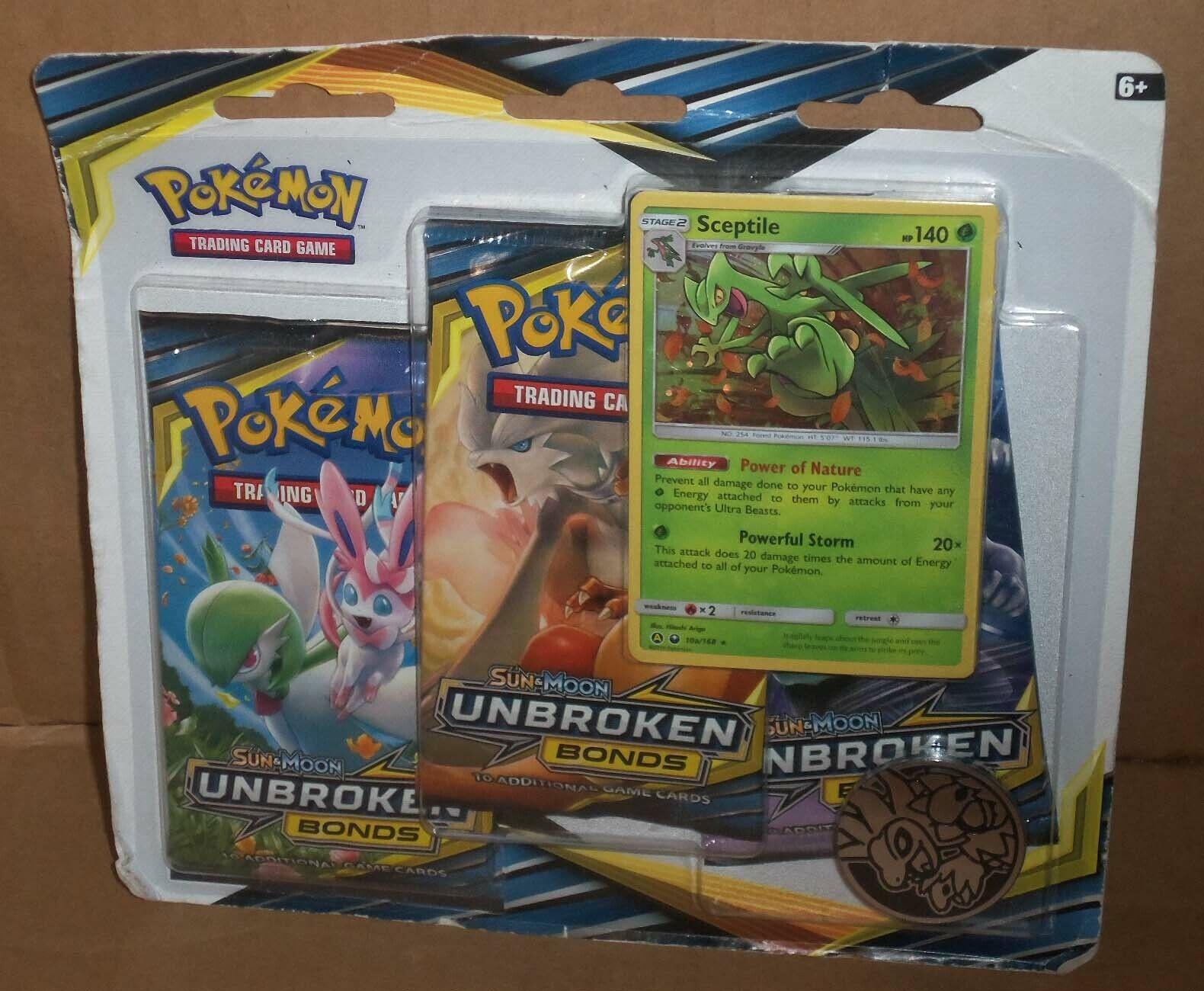 2 3 Pack Blisters Pokemon Sun and Moon Unbroken Bonds