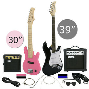 """Electric Guitar 30"""" 39"""" Full Size Black Includes Guitar Pick & Accessories NEW"""
