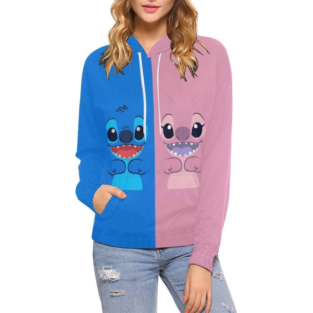 Stitch Angel All Over Print Hoodie (USA Size)
