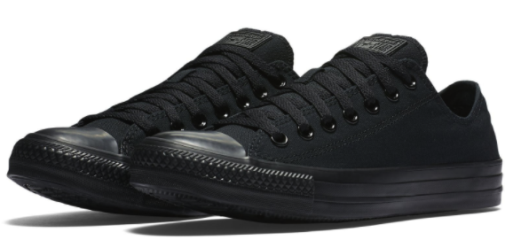 New CONVERSE All Star Chuck Taylor Low Top Sneaker triple  noir  Homme all Tailles