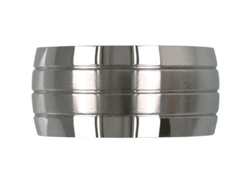 Bande Anneau en acier inoxydable pouce Anneau Femmes Hommes 12 mm large