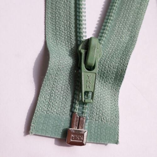 Fermeture éclair pastelgrün 004 nylon Taille 5 divisible YKK zipper fermuar cipzár