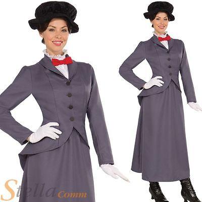 Mujer Victoriana Niñera Mary Poppins Adulto Disfraz Para Mujer