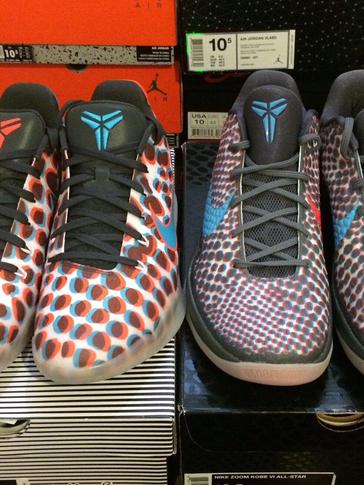 Nike Kobe VI & XI Low 3D Lot Cool Grey Crimson Size 10.5