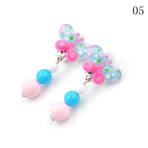 Fashion 1Pair Clip-On No Pierced Earrings For Kids Children Girls Birthday Gev #