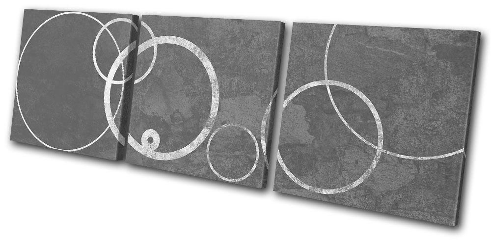 Office Modern Circles Abstract TREBLE TELA TELA TELA parete arte foto stampa 7a82a9