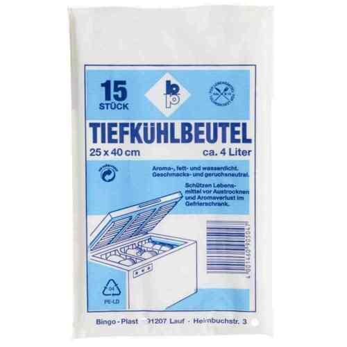 Tiefkühlbeutel 15 Stück 4,0 l Gefrierbeutel Allzweckbeutel NEU