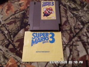 Super-Mario-Brothers-Bros-3-w-Instruction-Manual-Book-Nintendo-NES-Game-1990
