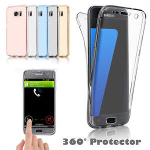 Shockproof-360-silicone-telephones-de-Protection-Transparente-Case-Cover-Pour-Samsung-Galaxy