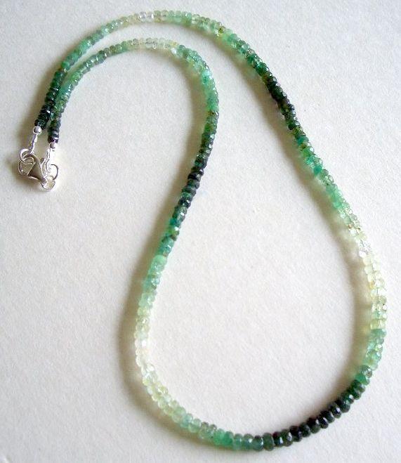 CATENA DI SMERALDO SMERALDO SMERALDO SFACCETTATE - 925 argentoO MOSCHETTONE-Smeraldo - 40 Carati-Emerald c950f2