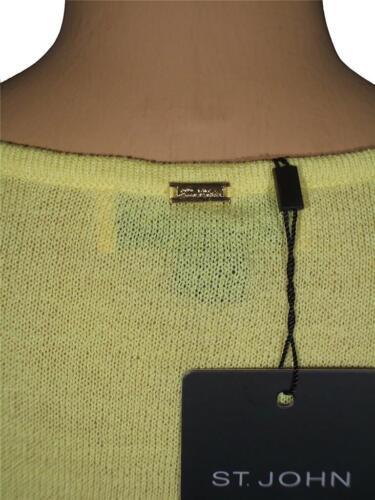 JOHN Santana Knit Citron Yellow V-Neck Tunic Fringe Sleeve sz XL $830 NWT ST