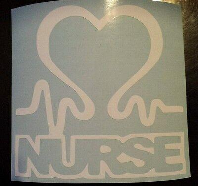 Vinyl Decal Sticker..Nurse Heartbeat..Look..Car Truck Window Laptop